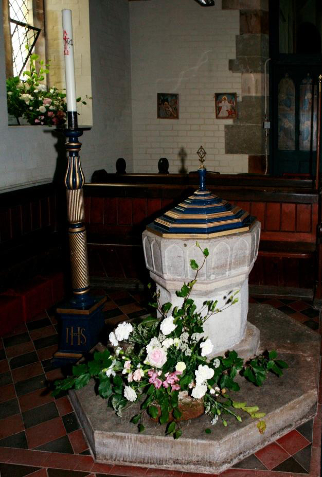The font at Hinton Martell