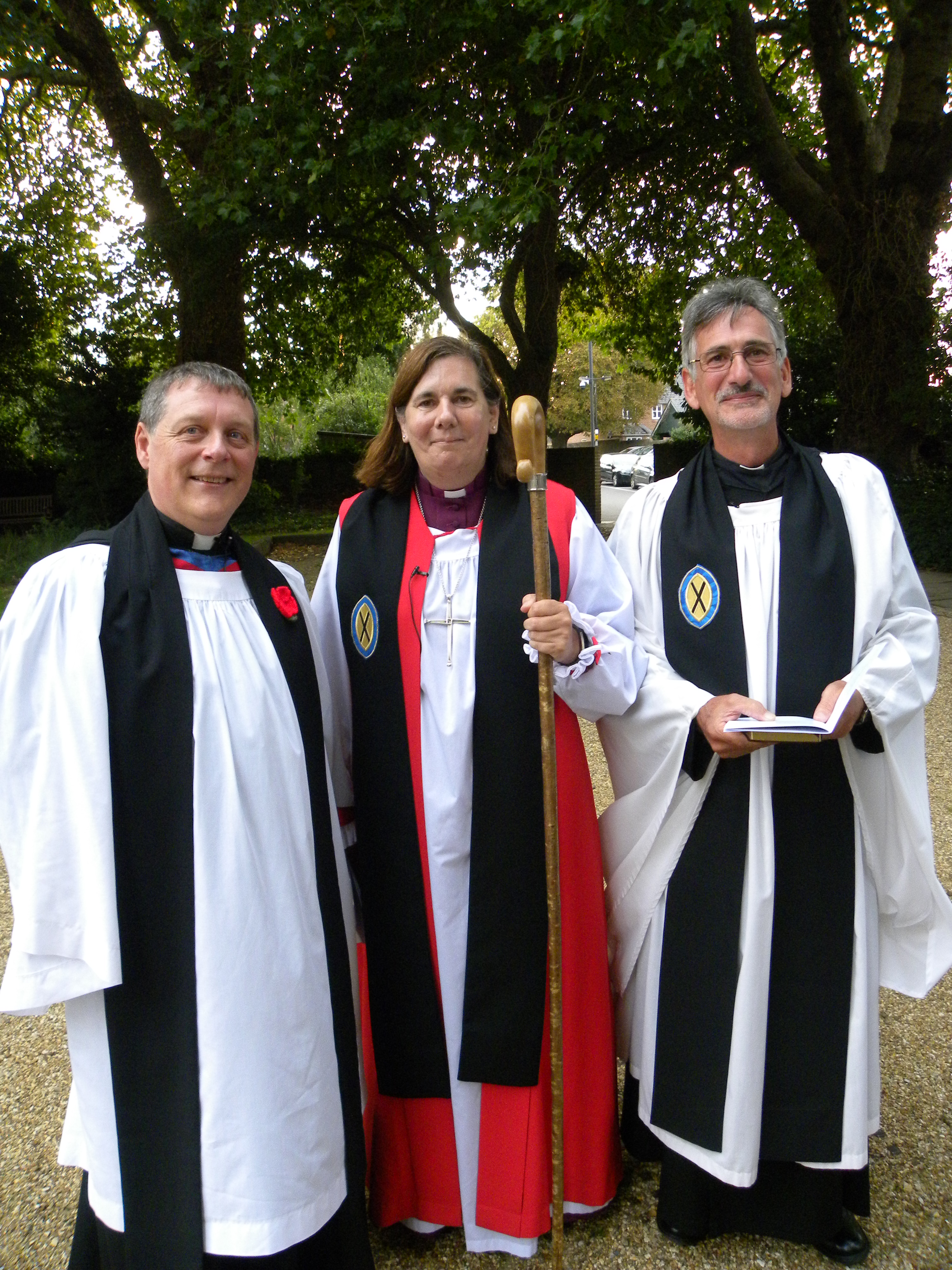 Andrew with the Bishop and Archdeacon