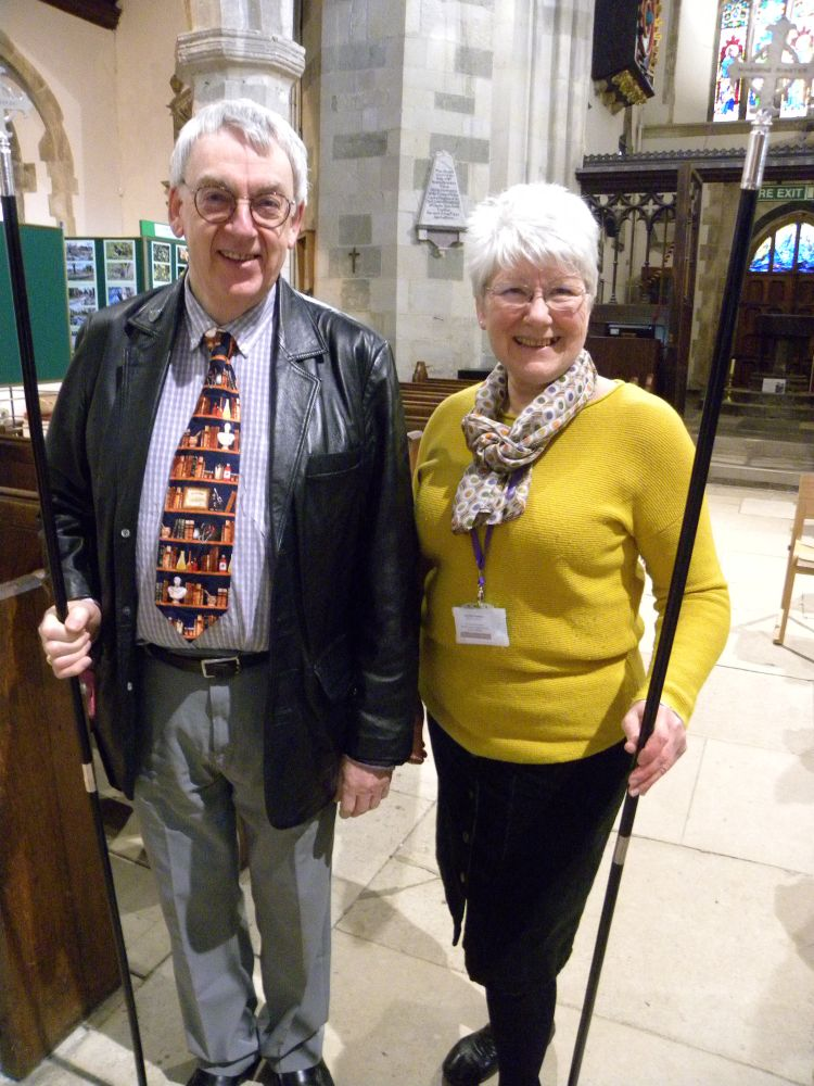 Churchwardens Peter Cook and De Ashton