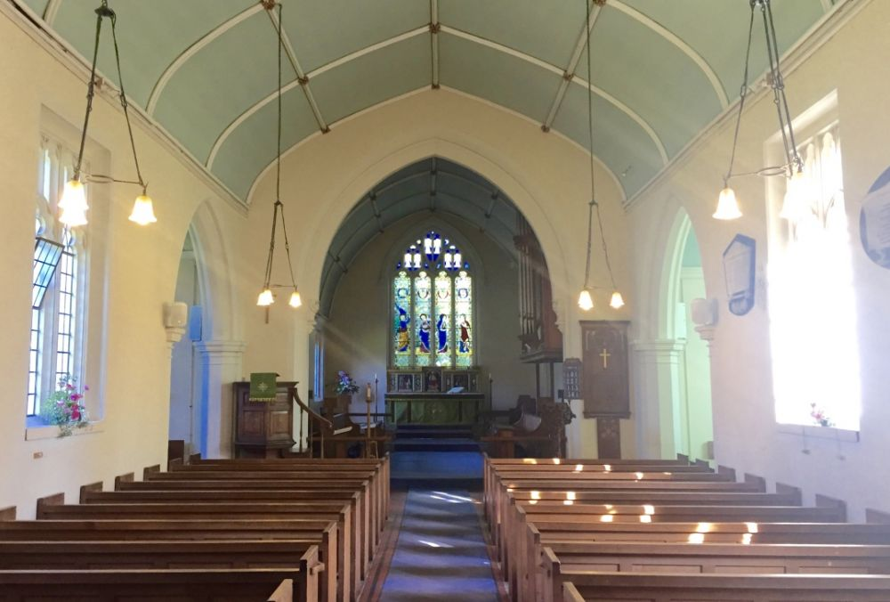 Inside church at Witchampton